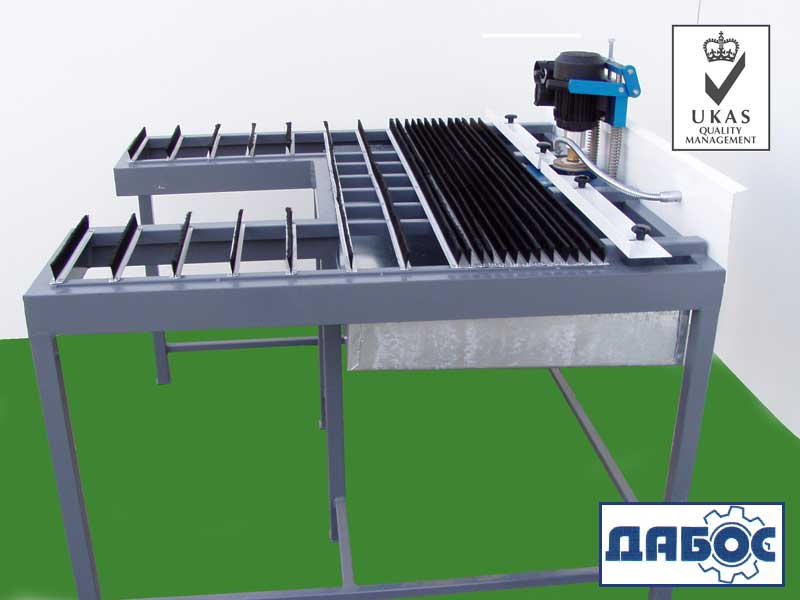 Machine for edge banding and drilling of glass